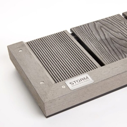 Light grey composite decking plank 140mm x 2950mm x23mm for Composite decking brands